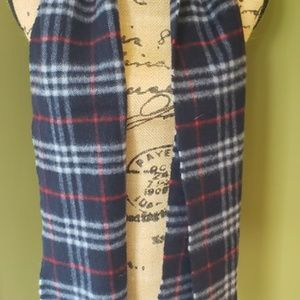 Burberry Accessories - Burberrys Vintage Lambswool Blue Nova Check Scarf!